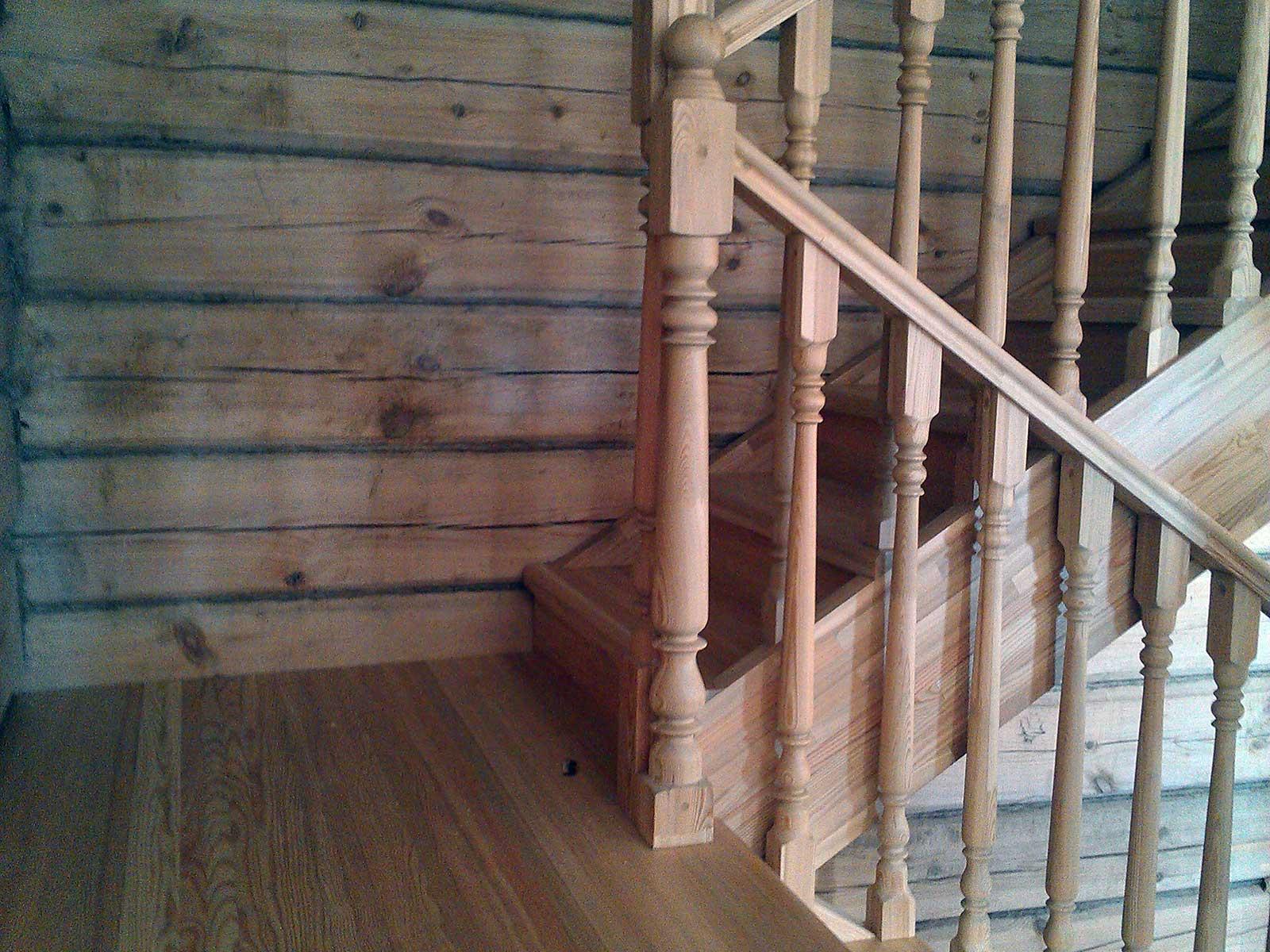 элементы лестниц из лиственницы