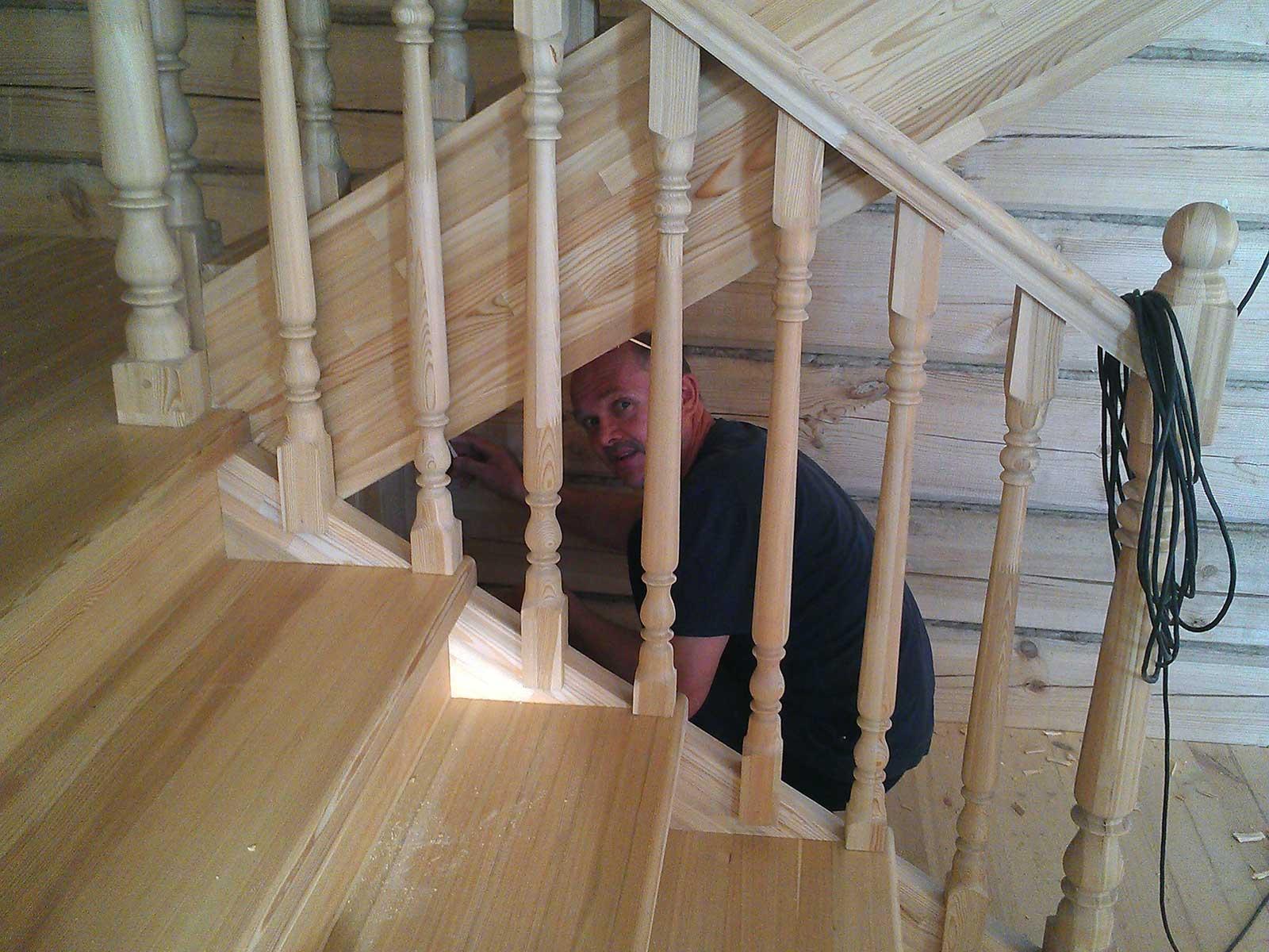 лестница деревянная лиственница