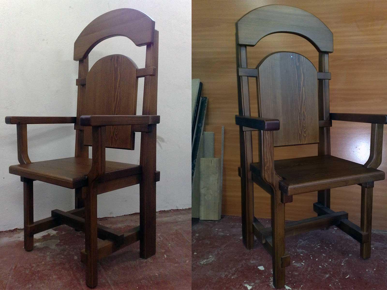 купить стул трон дерево